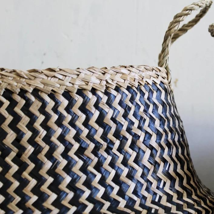 Zig Zag Basket Black & Natural From Forest Fox