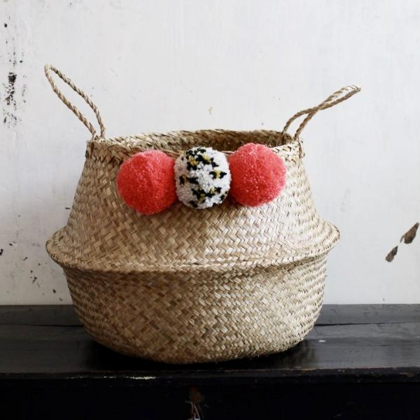 pom pom seagrass basket Forest Fox