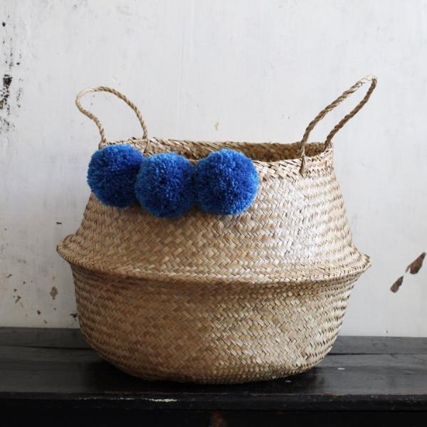 Seagrass pom pom basket from Forest Fox