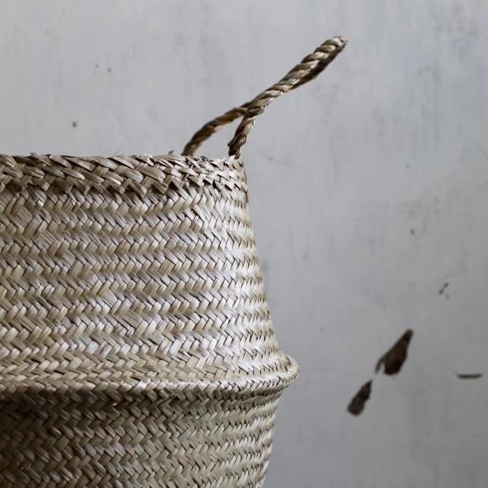 Handcrafted natural seagrass storage basket from Forest Fox