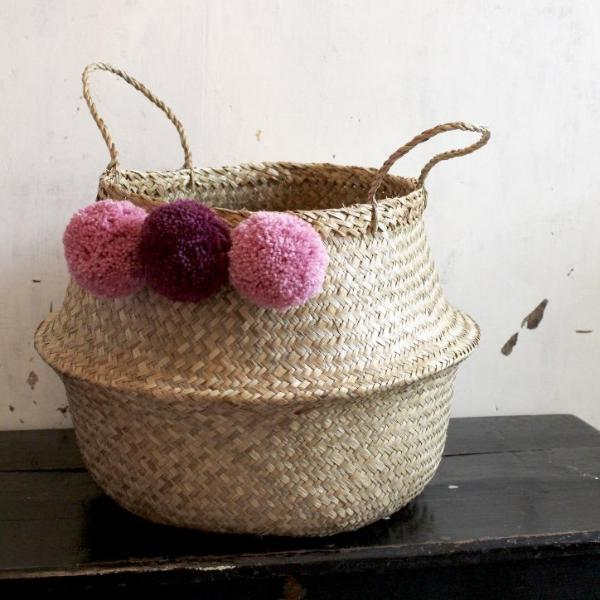 Scandi pom pom basket from Forest Fox