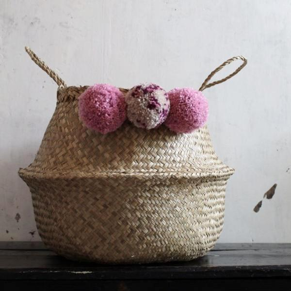 pom pom seagrass storage basket from Forest Fox