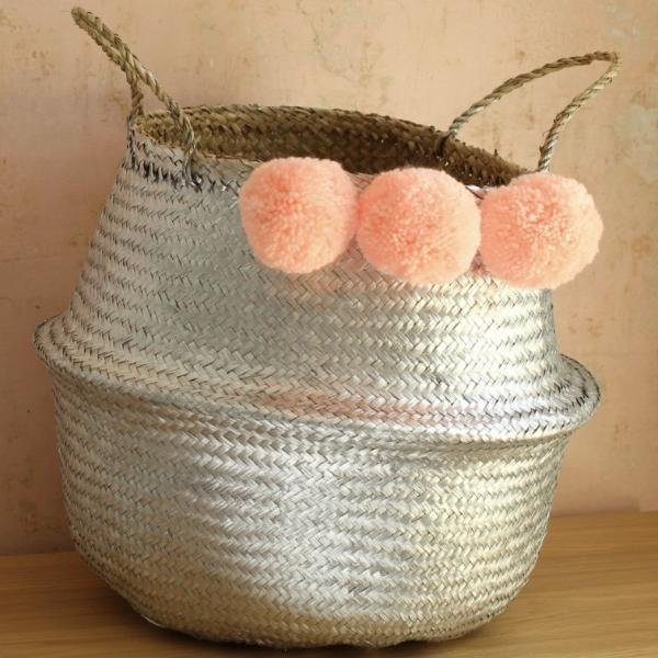 Handmade seagrass storage basket by Forest Fox