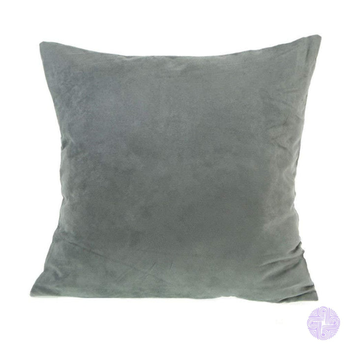 18 X Embroidered Throw Pillow Covers Faux Grey