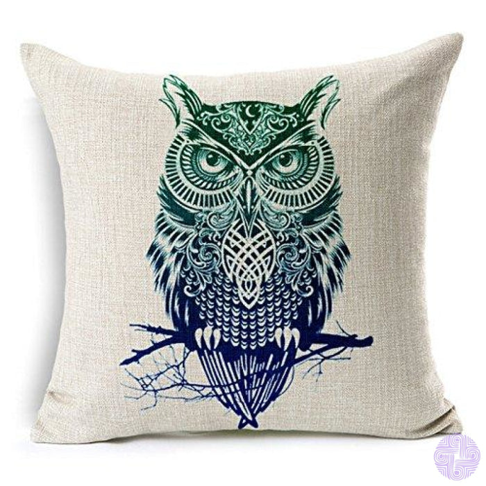18 X Embroidered Throw Pillow Covers Jianbian Owl