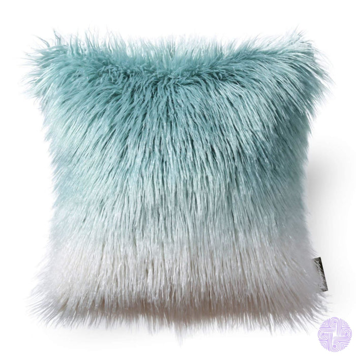 18 X Throw Pillow Covers In Faux Fur Velvet And Crochet Designs / Black&white