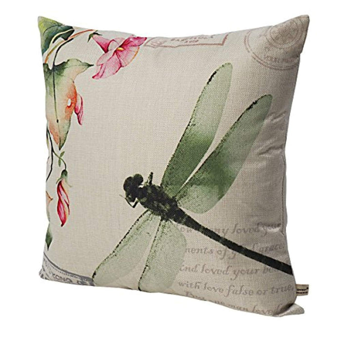 Set of 4, Spring Garden Decorative Throw Pillow Covers 18 x 18
