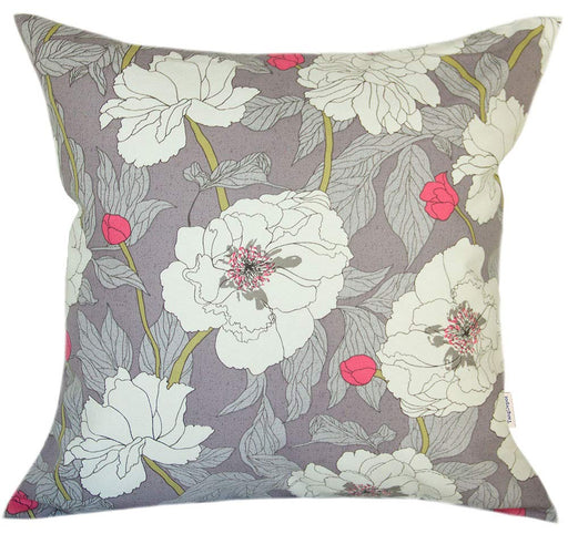 "100% Cotton Peony Decorative Throw Pillow Covers 22""x22"""
