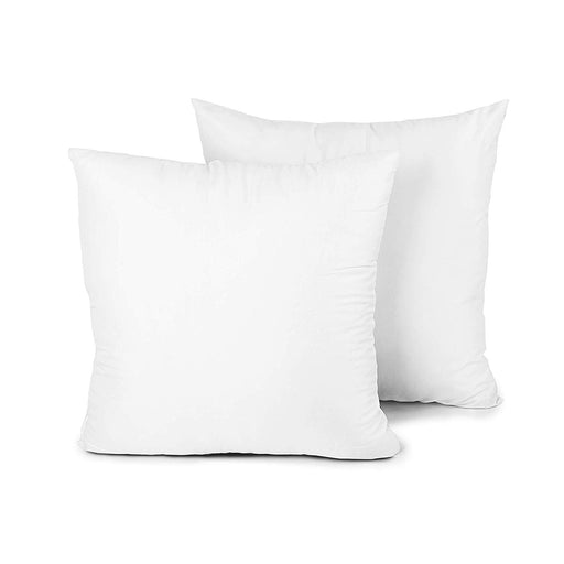 Set of 2 Pillow Inserts Hypoallergenic 18 x 18 inches