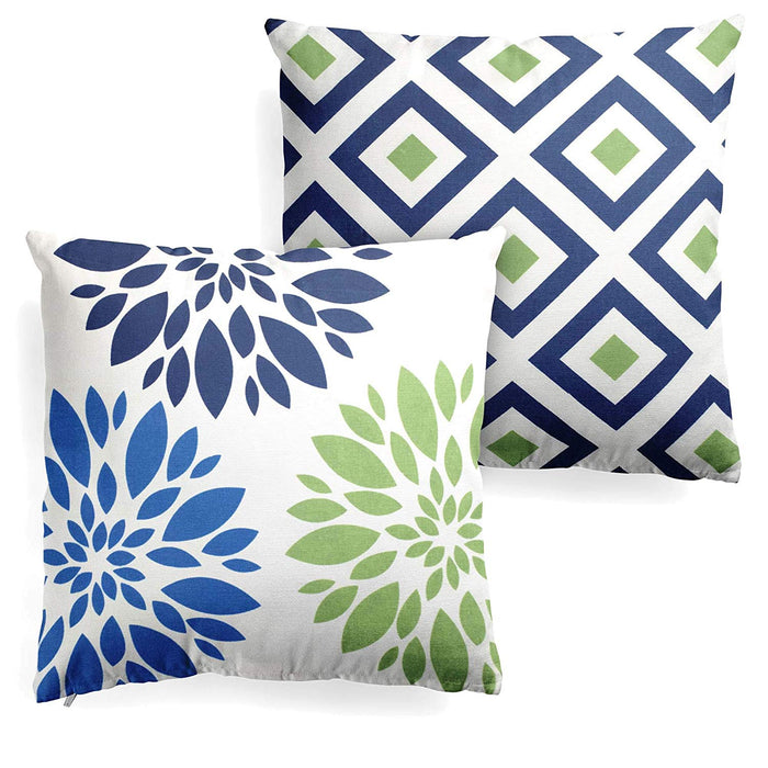 2 Decorative Spring Geometric Throw Pillows with Insert 18x18