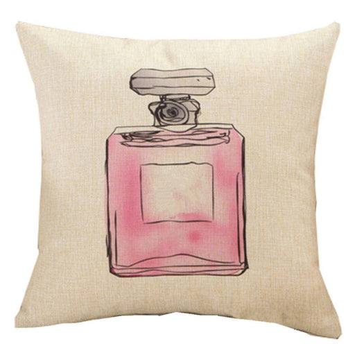 Fashion Pillowcase Cushion Cover Lipstick Perfume