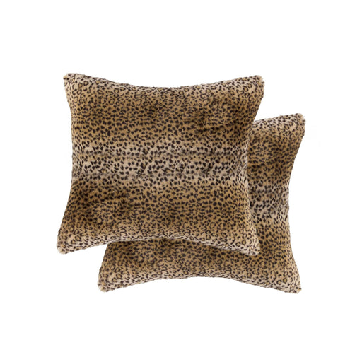 "2-Pack Faux Fur Pillow 18"" X 18"" - Soft Leopard"