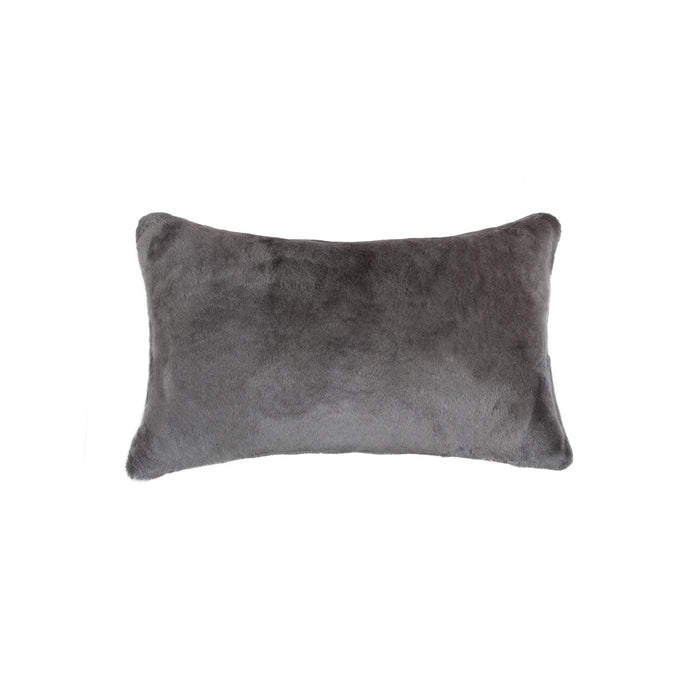 "Sheepskin Pillow 12"" X 20"" - Grey"