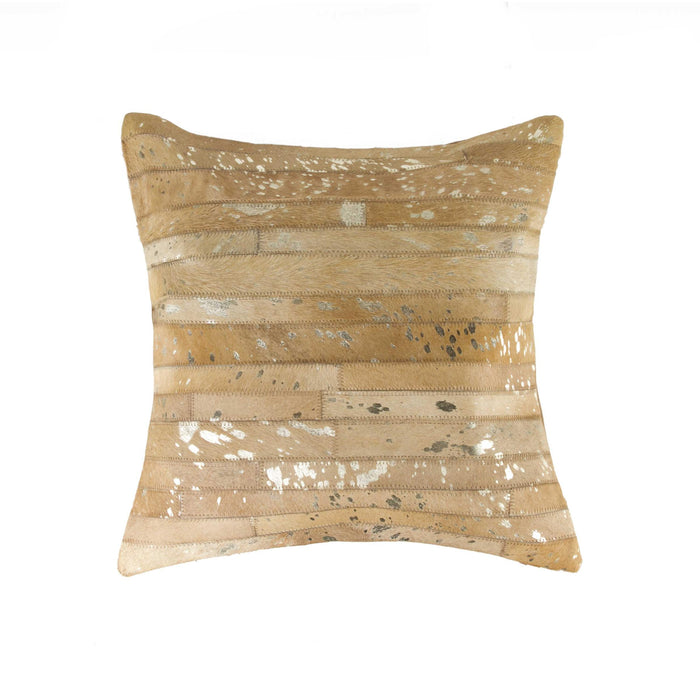 "Torino Madrid Pillow 18"" X 18"" - Gold-Tan"