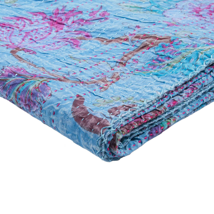 "Kantha Cotton Throw 50"" X 70"" - 1117-#04"