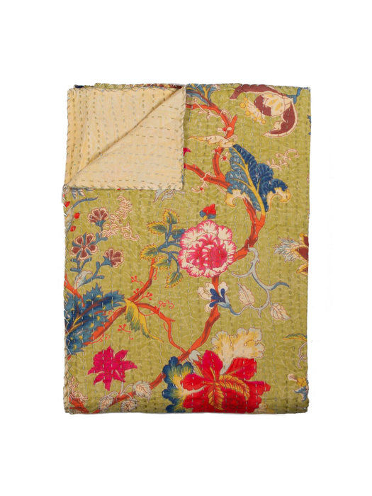 "Kantha Cotton Throw 50"" X 70"" - 331"