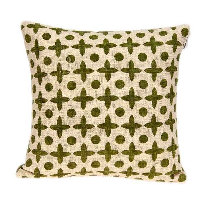 "18"" X 0.5"" X 18"" Transitional Beige Printed Pillow Cover"