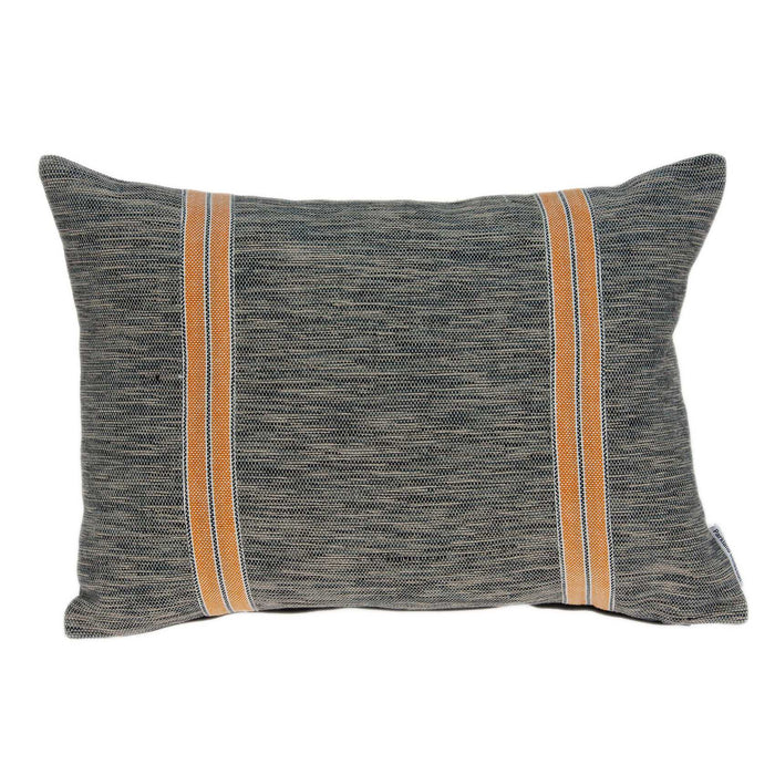 "20"" X 0.5"" X 14"" Transitional Orange And Gray Accent Pillow Cover"