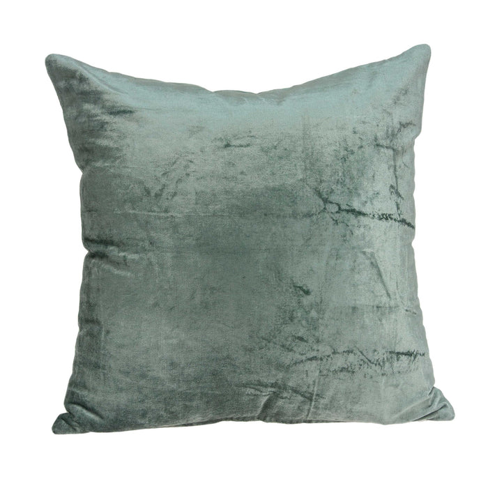 "22"" X 0.5"" X 22"" Transitional Sea Foam Solid Pillow Cover"