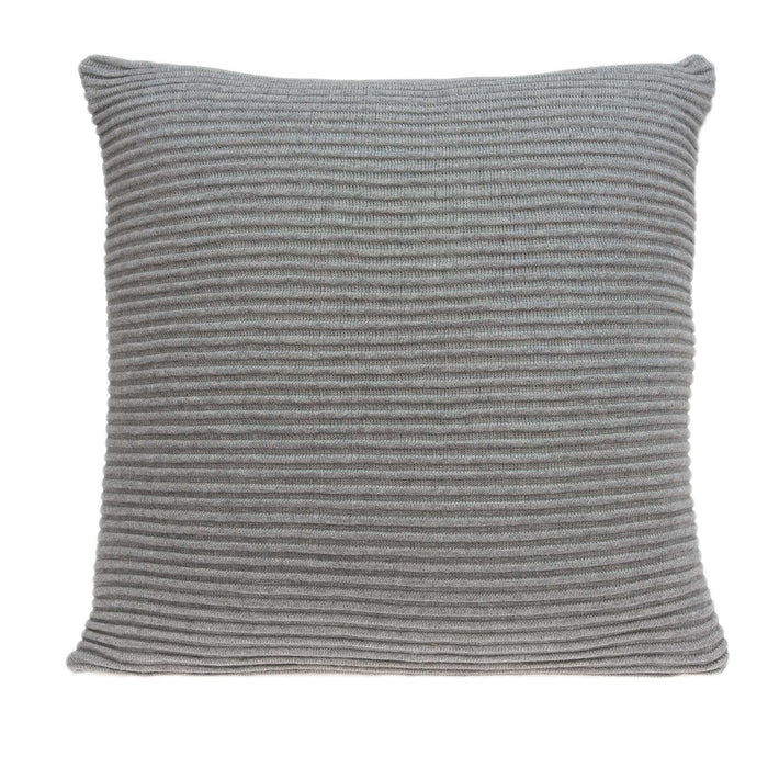 "20"" X 0.5"" X 20"" Transitional Gray Pillow Cover"
