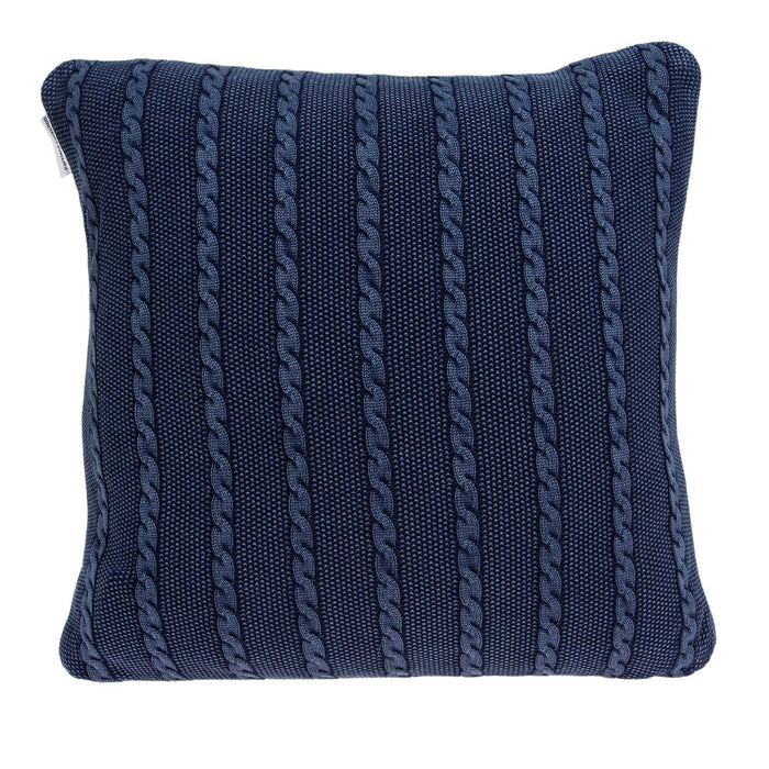 "18"" X 0.5"" X 18"" Transitional Blue Pillow Cover"