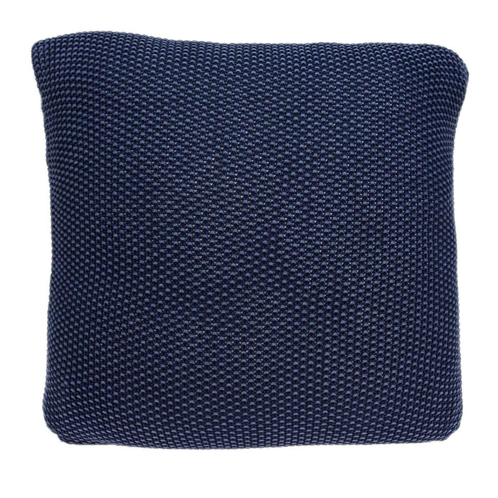 "18"" X 0.5"" X 18"" Transitional Blue Cotton Pillow Cover"