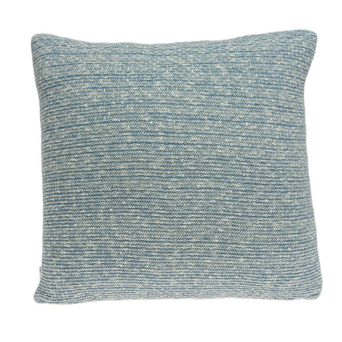 "20"" X 0.5"" X 20"" Transitional Blue Cotton Pillow Cover"