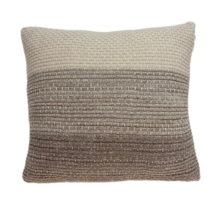 "20"" X 0.5"" X 20"" Unique Transitional Tan Cotton Accent Pillow Cover"