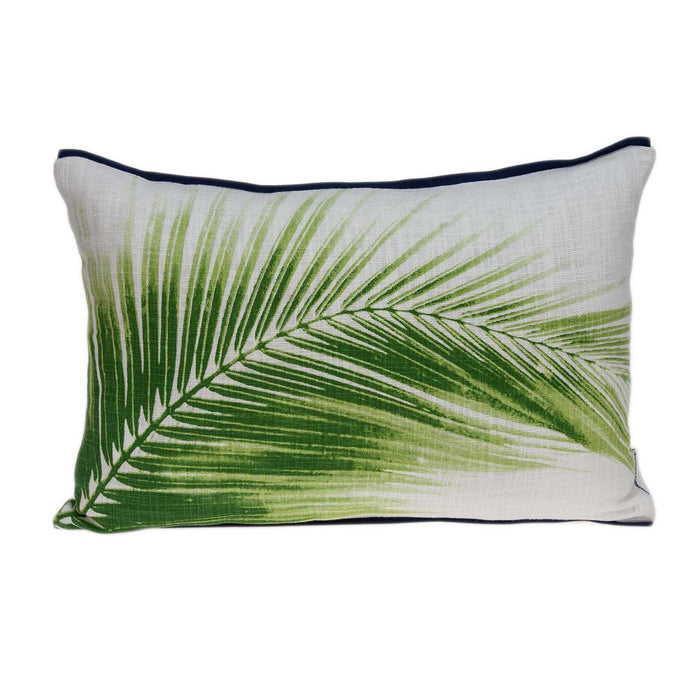 "20"" X 0.5"" X 14"" Tropical Green Cotton Pillow Cover"