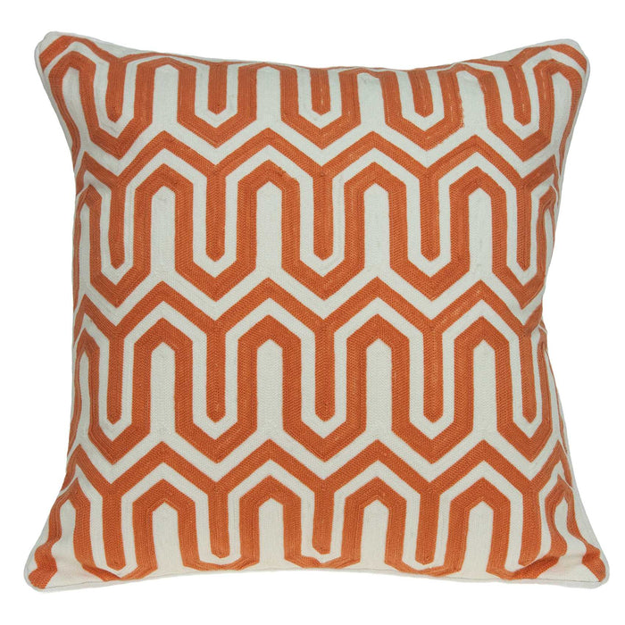 "20"" X 0.5"" X 20"" Transitional Orange Pillow Cover"