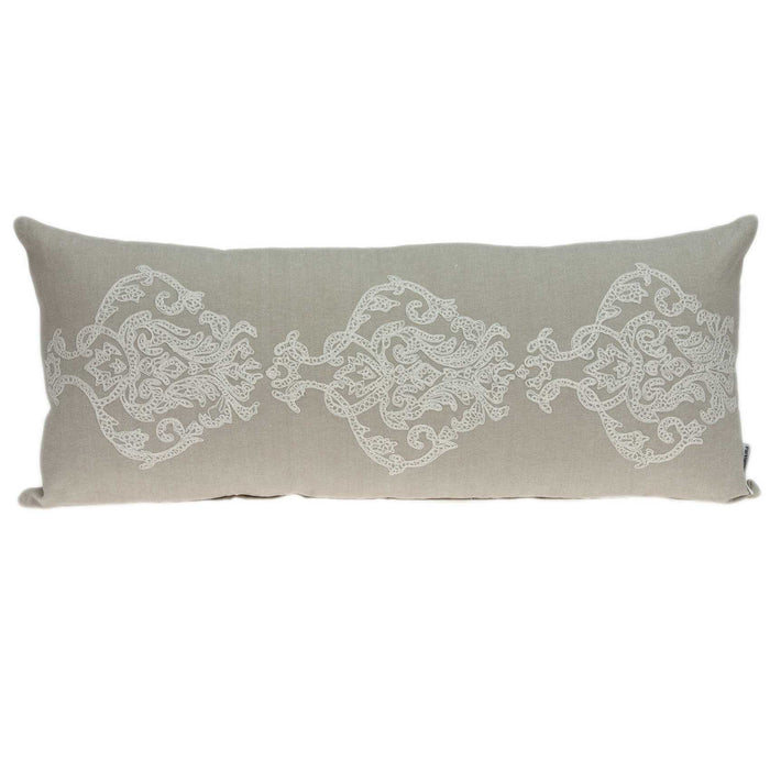 "28"" X 0.5"" X 12"" Transitional Beige Pillow Cover"