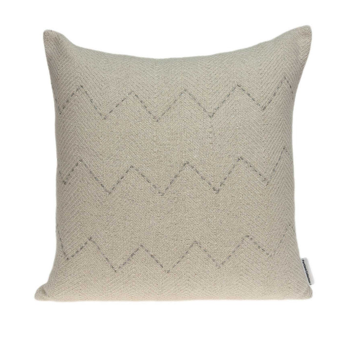 "20"" X 0.5"" X 14"" Transitional Beige Cotton Accent Pillow Cover"