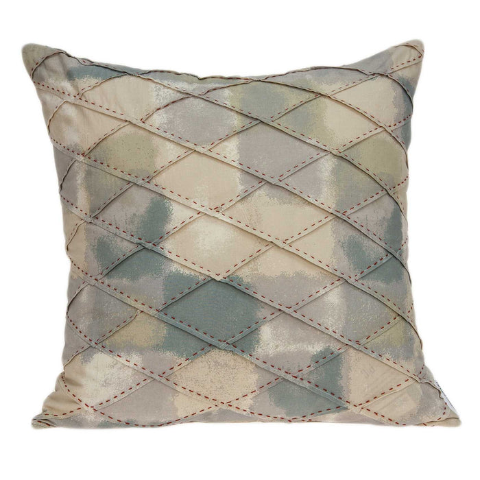 "20"" X 0.5"" X 20"" Transitional Cool Multicolor Accent Pillow Cover"