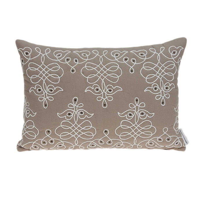 "20"" X 0.5"" X 14"" Traditional Beige Pillow Cover"