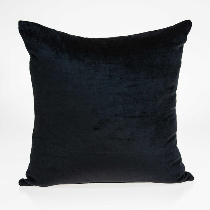 "18"" X 7"" X 18"" Transitional Black Solid Pillow Cover With Poly Insert"