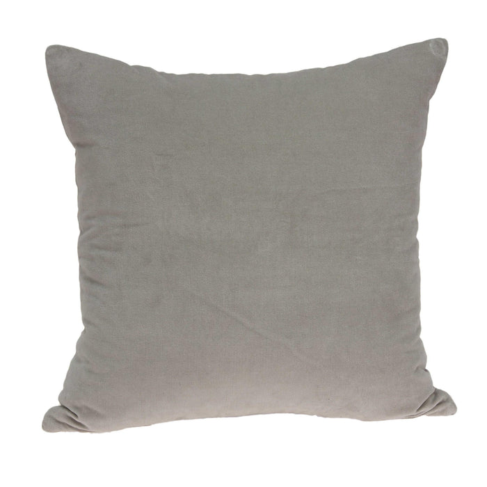 "18"" X 7"" X 18"" Transitional Gray Solid Pillow Cover With Poly Insert"