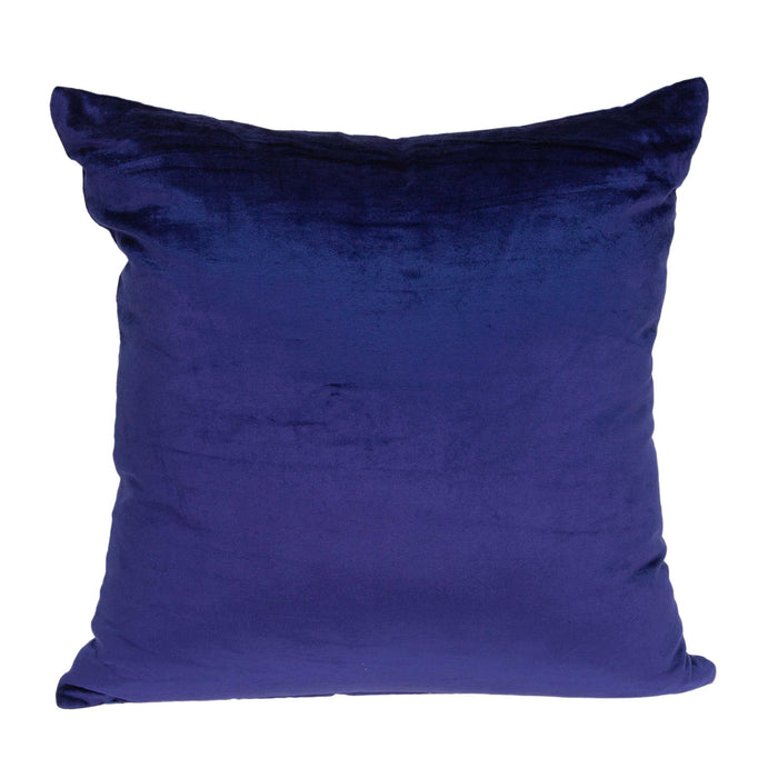 "20"" X 7"" X 20"" Transitional Royal Blue Solid Pillow Cover With Poly Insert"