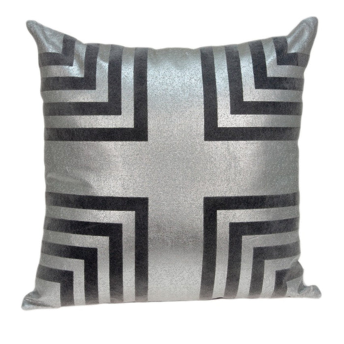 "20"" X 0.5"" X 20"" Beautiful Transitional Gray Accent Pillow Cover"