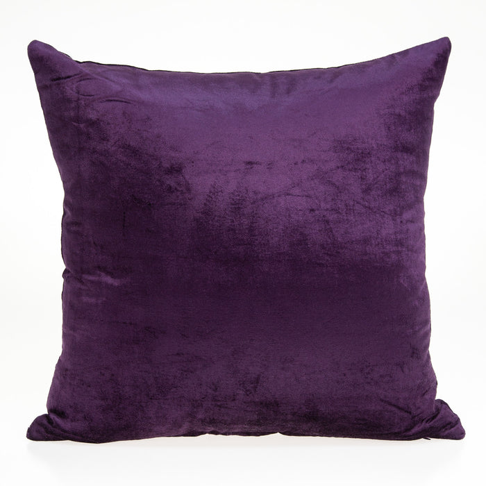 "22"" X 7"" X 22"" Transitional Purple Solid Pillow Cover With Poly Insert"