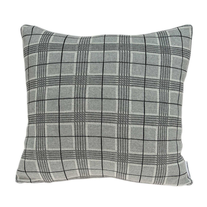 "20"" X 7"" X 20"" Transitional Gray Accent Pillow Cover With Poly Insert"