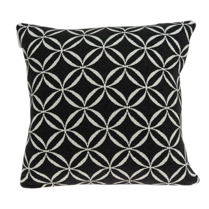 "20"" X 7"" X 20"" Transitional Black Pillow Cover With Poly Insert"