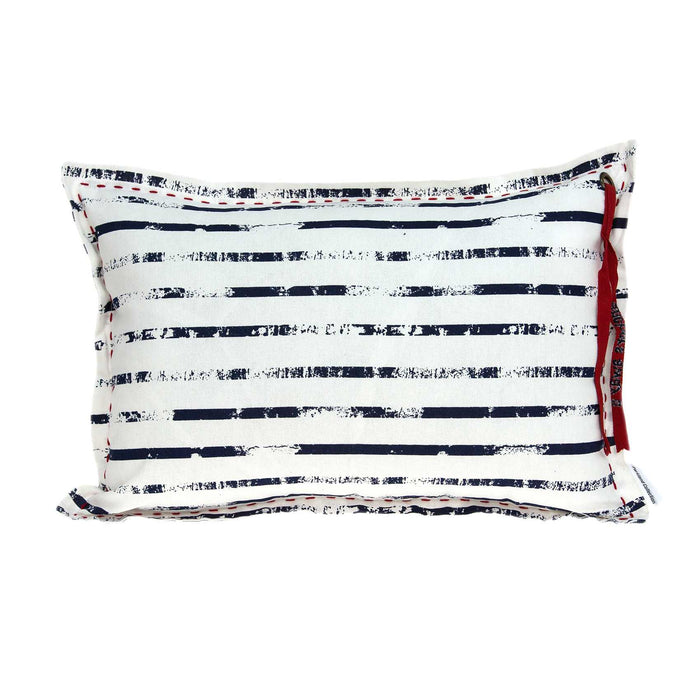 "20"" X 6"" X 14"" Nautical White Pillow Cover With Poly Insert"