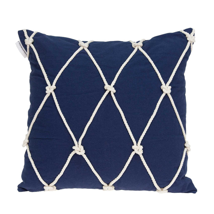 "20"" X 7"" X 20"" Nautical Blue Pillow Cover With Poly Insert"