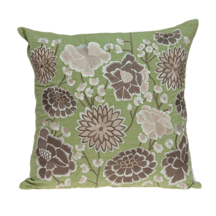 "20"" X 0.5"" X 20"" Tropical Green Pillow Cover"