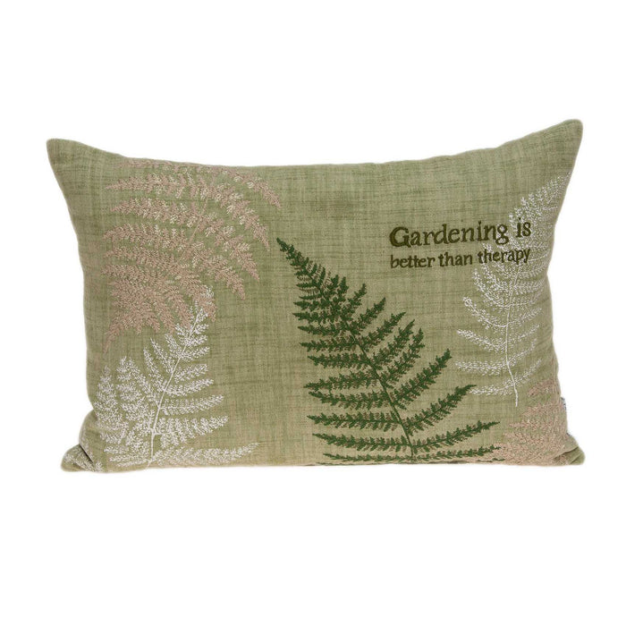 "20"" X 6"" X 14"" Tropical Green Pillow Cover With Poly Insert"