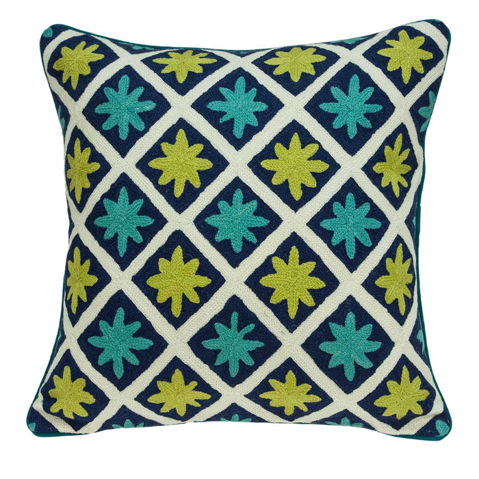 "20"" X 0.5"" X 20"" Handmade Traditional Multicolored Accent Pillow Cover"
