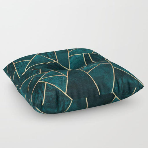Abstract Stone Floor Pillow