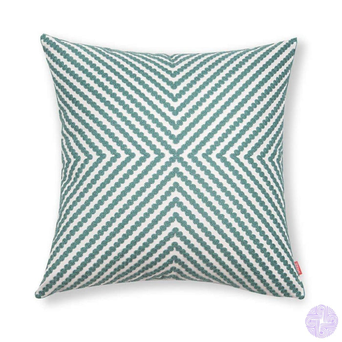 Beach Inspired Embroidered Throw Pillow Covers 1Pc / Blue