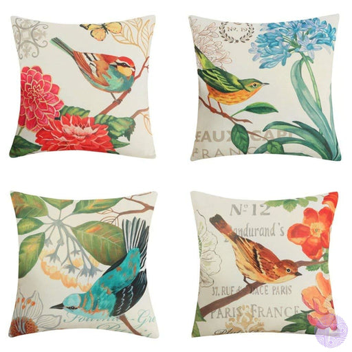 Bird And Nature Inspired Throw Pillow Covers D