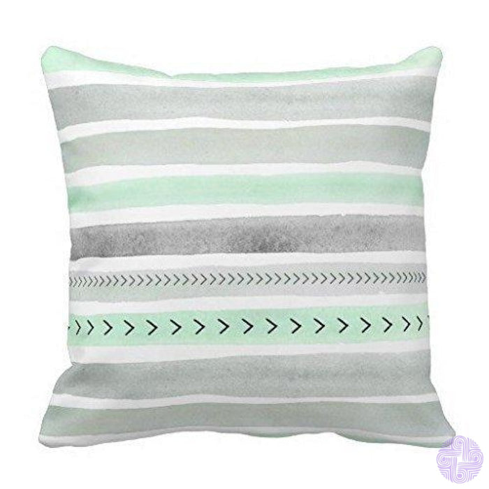 Black And White Single Initial Monogram Throw Pillow Cover Design03